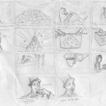 KopiLuwak rough storyboard sketch